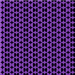 Contemporary Purple and Black Circles Pattern