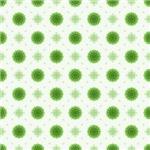 Green Fluffy Flowers Pattern