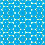 Blue and White Barbed Wire Octagon Pattern
