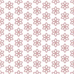 Pretty Pink Flower Outlines Pattern
