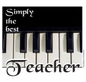 BEST PIANO, MUSIC TEACHER T-SHIRTS AND GIFTS