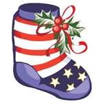 Patriotic Christmas Ornaments & Gifts