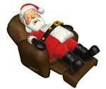 Sleeping Santa Ornaments & Gifts