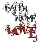 Faith Hope Love Christian T-shirts & Presents
