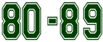 80-89 GREEN