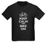 Keep Calm and Bike On (white imprint)