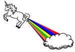 Unicorn Rainbow Fart Cloud