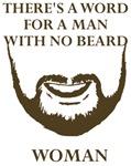 Man No Beard Woman