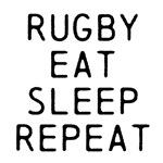 Rugby Eat Sleep Repeat