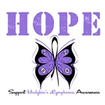 Hope Butterfly Hodgkin's Lymphoma T-Shirts & Gifts