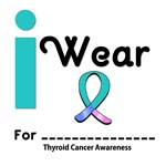 I Wear Thyroid Cancer Ribbon T-Shirts & Gifts