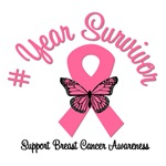 Breast Cancer Survivor Years T-Shirts & Gifts