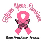 15 Year Breast Cancer Survivor T-Shirts