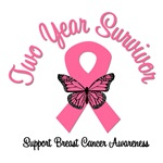 2 Year Breast Cancer Survivor T-Shirts