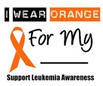 I Wear Orange Ribbon T-Shirts & Gifts For Leukemia