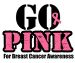 GO PINK Breast Cancer T-Shirts & Gifts