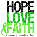 Hope, Love & Faith Lymphoma Shirts & Gifts