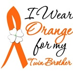 I Wear Orange Flower Twin Brother Leukemia Shirts