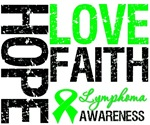 Hope Love Faith Lymphoma Shirts & Gifts