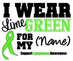 I Wear Lime Green Lymphoma Sporty Shirts & Gifts