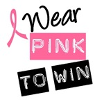 I Wear Pink Ribbon To Win Label T-Shirts