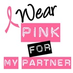 I Wear Pink Ribbon For My Partner Label Tees