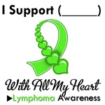 Lymphoma Support Heart Ribbon T-Shirts & Gifts