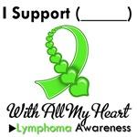 Lymphoma Support Heart Ribbon T-Shirts & Gifts