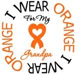 I Wear Orange Grandpa Leukemia Shirts