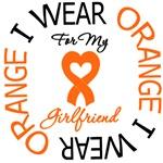I Wear Orange Girlfriend Leukemia Shirts