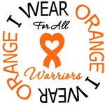 I Wear Orange All Warriors Leukemia Shirts