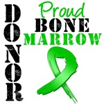 Proud Bone Marrow Donor Grunge Ribbon Shirts