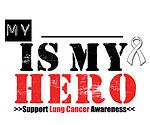 Lung Cancer Hero Ribbon T-Shirts & Gifts