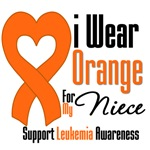 Leukemia I Wear Orange For My Niece Shirts