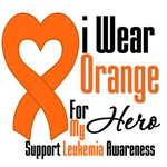Leukemia I Wear Orange For My Hero Shirts