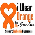 Leukemia I Wear Orange For My Grandson Shirts