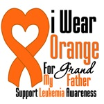 Leukemia I Wear Orange For My Grandfather Shirts