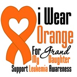 Leukemia I Wear Orange For Granddaughter Shirts