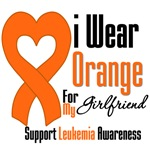 Leukemia I Wear Orange For My Girlfriend Shirts