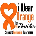 Leukemia I Wear Orange For My Brother Shirts