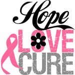 Breast Cancer HOPE LOVE CURE T-Shirts & Gifts