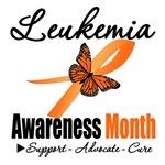 Leukemia Awareness Month Butterfly Gifts & Shirts