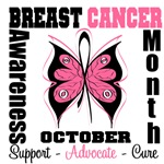 October Breast Cancer Month Butterfly Merchandise