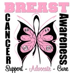 Breast Cancer Awareness Butterfly Shirts & Gifts
