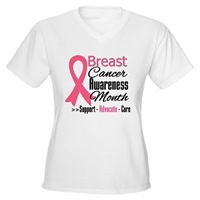 Breast Cancer Pink Ribbon Month Tee Shirts