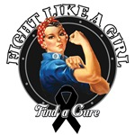 Rosie The Riveter Fight Like a Girl Skin Cancer