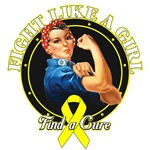Rosie Riveter Fight Like a Girl Bladder Cancer