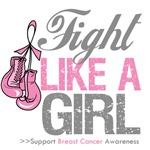 Fight Like a Girl Gloves Distressed Breast Cancer