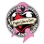 Fight Like a Girl Tattoo Heart Breast Cancer Gifts