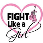 Fight Like a Girl Heart Design Shirts and Gifts